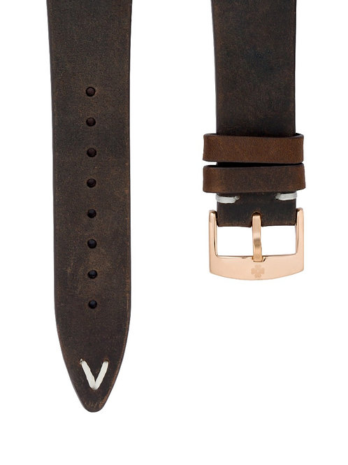 RACER WATCH VINTAGE BROWN LEATHER STRAP (approx USD 26)