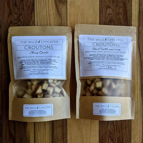 Cheesy Garlic Croutons