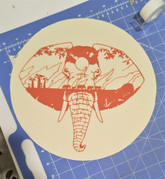 The finished papercut before mounting