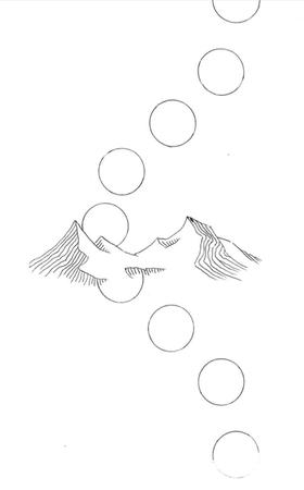 Final tattoo design (no stylization on suns)