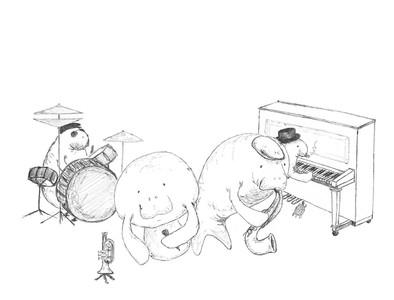 Sketch - a sea cow blues quartet
