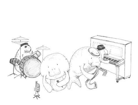 Sketch - a sea cow blues quartet