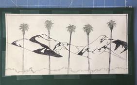 San Gabriels Papercut Pre Cutting Tim Ro