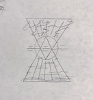 Sketch E - Sun on an ocean horizon, with up- and down-facing triangles framing the scene