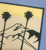 Detail of the top right corner: Cucamonga Peak and palms