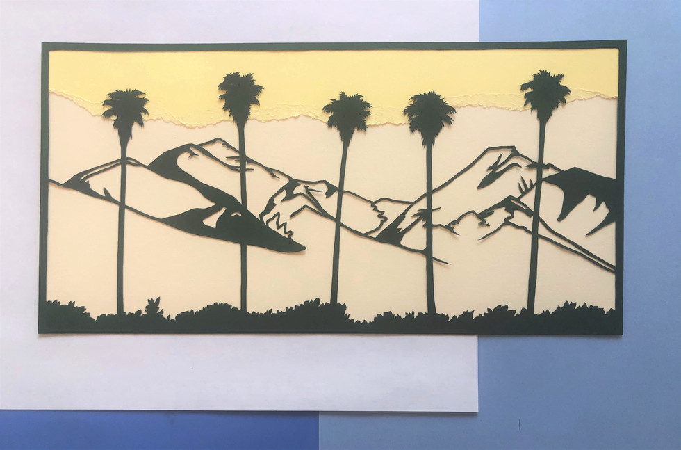 The finished papercut