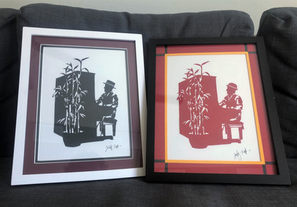 Two of the set, finished and framed