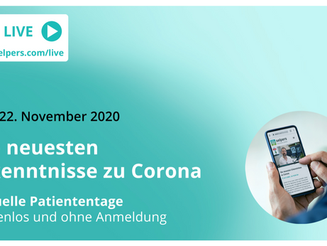 Einladung: Virtuelle PatientInnentage am 21. & 22. Nov.