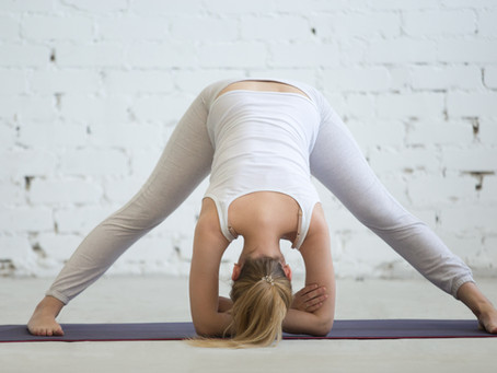 Prepare your body for arm stands and splits with one pose - wide-legged forward bend