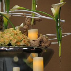 Grape Wood Calla Lilies & Roses