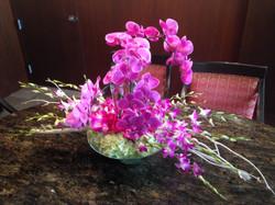 Purple orchids Aria Sky Villa