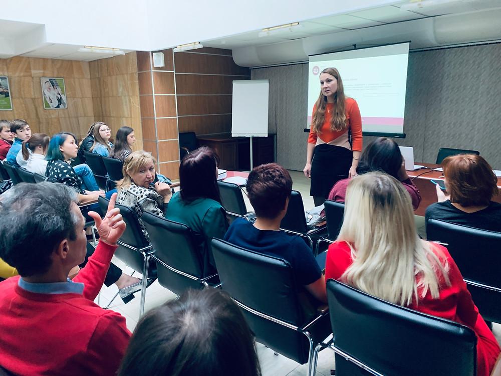 Семинар для НКО г. Краснодара проводит юрист Юлия Дробот
