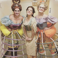Backstage before La Cenerentola at AZO with Daniela Mack and Katrina Galka, April 2017