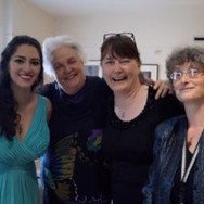 With #TeamSummerGarden: composer Elinor Armer, violist Cynthia Ryan, and pianist Alla Gladysheva, May 2016
