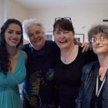 With #TeamSummerGarden: composer Elinor Armer, violist Cynthia Ryan, and pianist Alla Gladysheva, May 2016