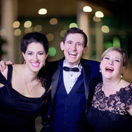 Backstage in Suzhou, China, w ith Countertenor Eric Schlossberg and Soprano Michèle Cusson. Image by Jacky Photography