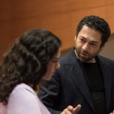 Working with director Jose Maria Condemi, April 2016. Photo courtesy of SFCM