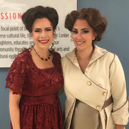 With Ana María Martínez backstage at Florida Grand Opera's Florencia en el Amazonas, May 2018