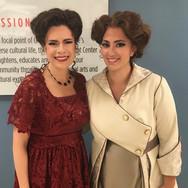 With Ana María Martínez backstage at Florida Grand Opera's Florencia en el Amazonas, May 2018