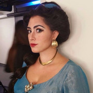 Backstage at the Santa Fe Opera, August 2017. Photo and wig design by Nick Lynch-Voris