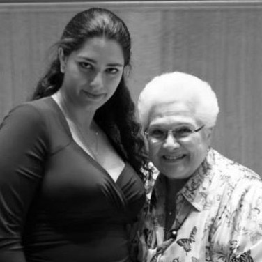With Marilyn Horne at the San Francisco Conservatory of Music, March 2014