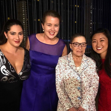 With Kasia Borowiec, Kristen Choi, and the notorious Justice RBG, August 2017