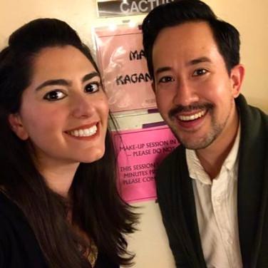 Backstage after Madama Butterfly at Arizona Opera with director Matthew Ozawa, January 2017