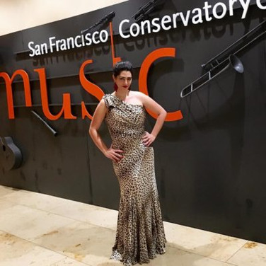 After performing Carmen at the San Francisco Conservatory Gala, March 2016
