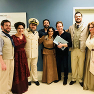 With the cast, director, and conductor of Florencia en el Amazonas at FGO, April 2018: Andrew Bidlack, Ana María Martínez, Rafael Porto, Jose Maria Condemi, Cecilia Violetta López, Ramón Tebar, William Lee Bryan, and Steven LaBrie