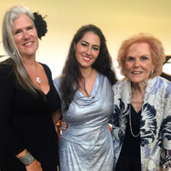 With Shelley Townsend and Lois Alba after winning First Place and and Audience Choice Award at the Lois Alba Aria Competition, May 2019