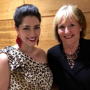 After performing at the 2016 San Francisco Conservatory Gala, with Frederica von Stade