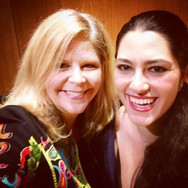 Taking selfies with Susan Graham after working with her in a master class, March 2015