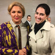 With Anna Netrebko after seeing her in Eugene Onegin at the Metropolitan Opera, April 2017
