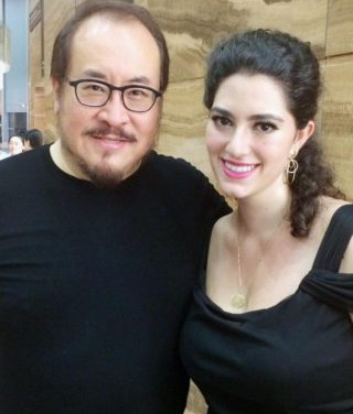 With Hao Jiang Tian after the final performance of the iSing Festival, Suzhou, July 2015