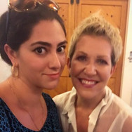 A selfie with Joyce DiDonato at the Santa Fe Opera, August 2016