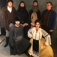 With the cast of Boris Godunov Картина II at the Santa Fe Opera, August 2016.