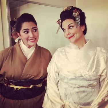 With Rena Harms backstage at Arizona Opera's production of Madama Butterfly, January 2017