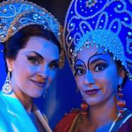 With Venera Gimadieva backstage at the Santa Fe Opera, August 2017