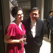 With Maestro Yu Long after an amazing collaboration, Shanghai, July 2015