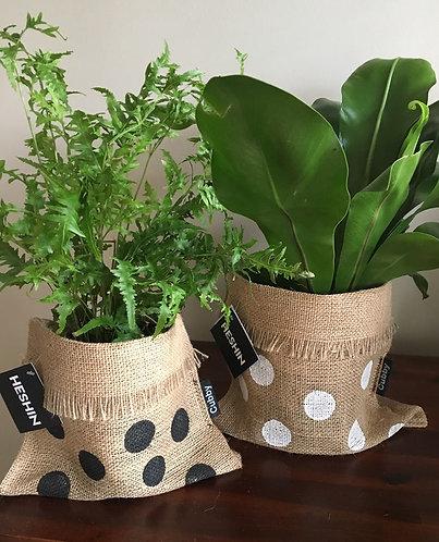 CUBBY #2 Hessian Plant/Produce/Gift Sack - 14cm pot size