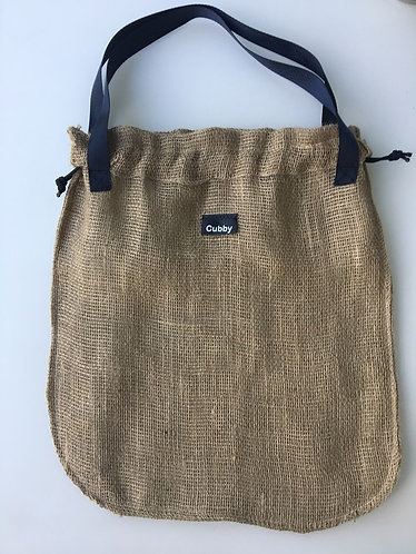 Large Hessian Bag with Handles