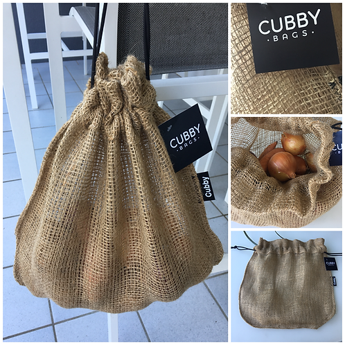 CUBBY Reusable Medium Drawstring Hessian Produce Bag