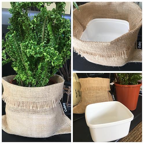 CUBBY #3 Hessian Plant/Produce/Gift Sacks - 17cm dia. pot size