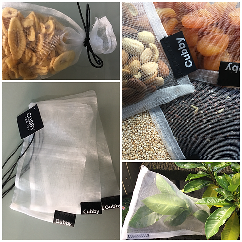 CUBBY Fruit Protection/Seed & Nut Bags (Pack of 3)