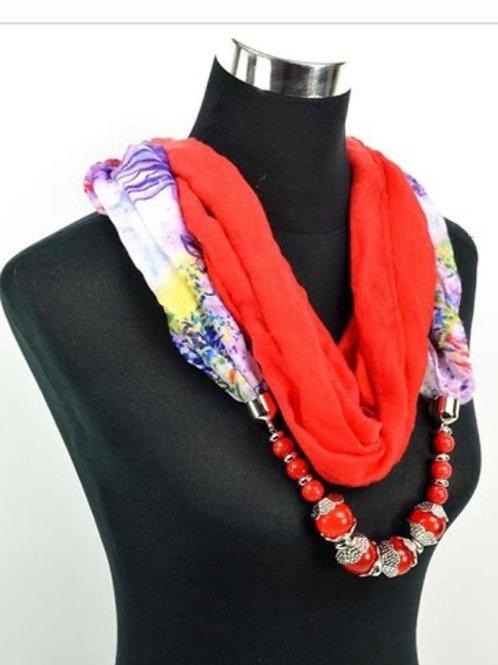 Foulard bijou rouge
