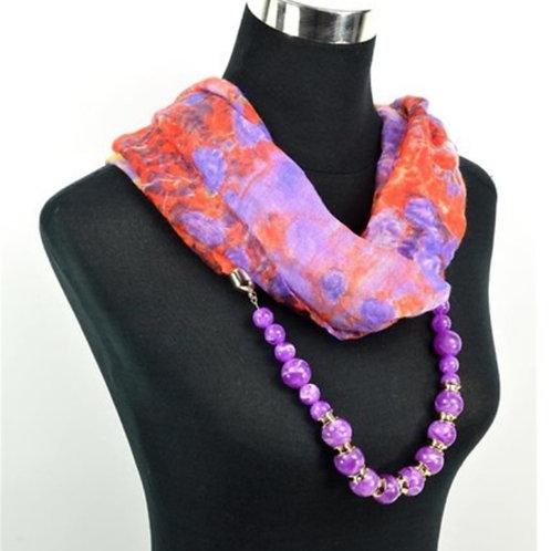 Foulard bijou violet