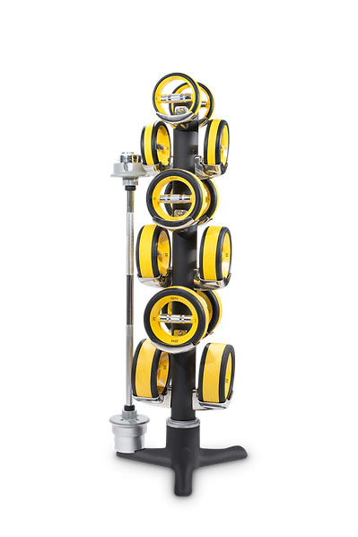21st Century fitness equipment, the Elite 530 with Yellow NuBells to save space and offers a beautiful design