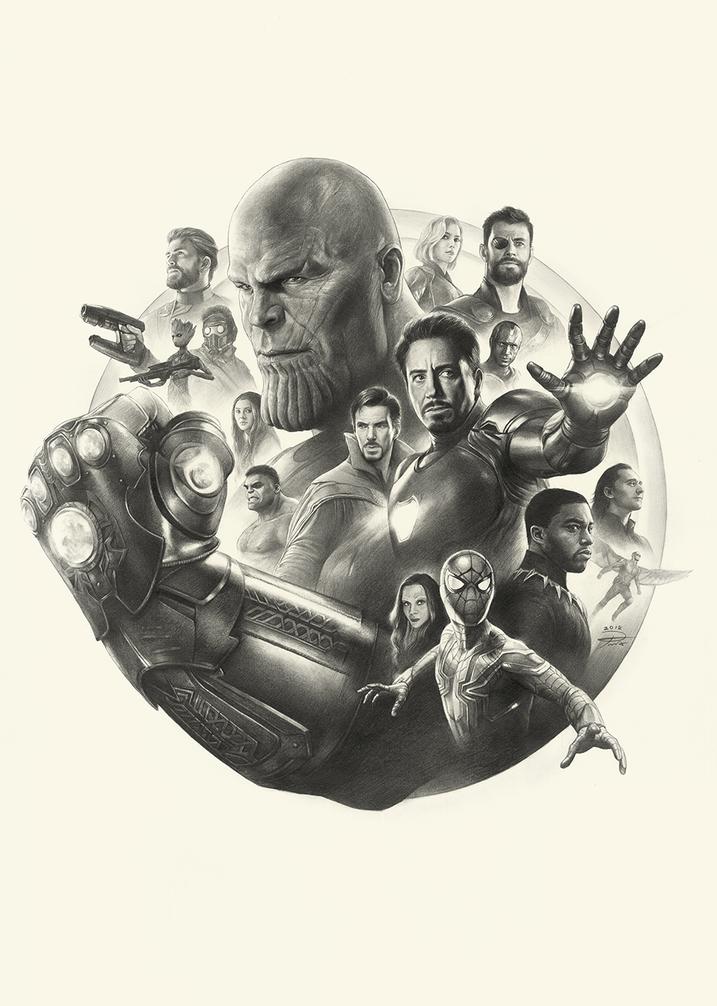 Avengers Infinity War Pencil Art By YinY