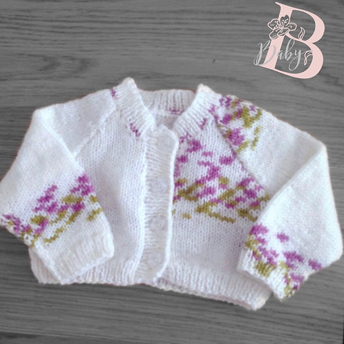 White baby girl cardigan