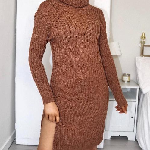 Turtle neck jumper dress